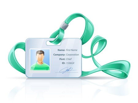 name tags: illustration of badge on white background.