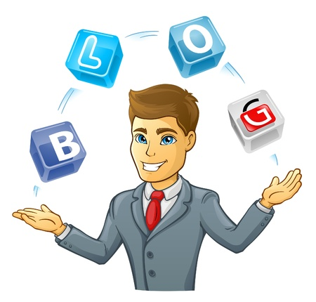 illustration of business man on white background. Vector