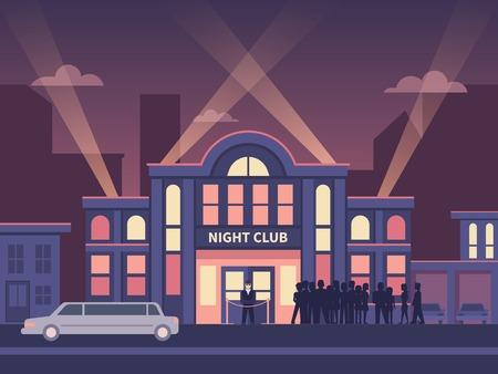 zábava: Budování noční klub full house. Ilustrace