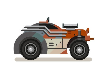 styled: Tuned Retro Car concept flat vector illustration.