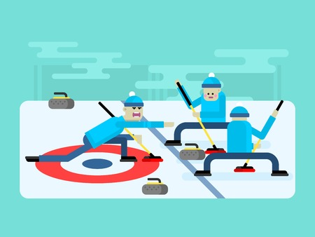 curling: Curling winter game