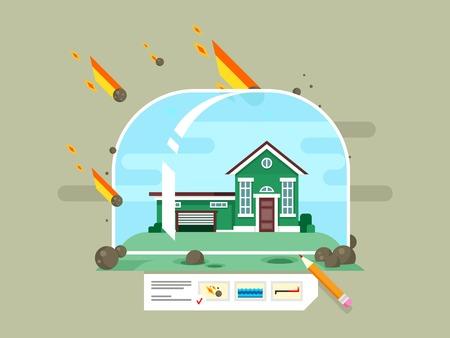 property: Property insurance concept Illustration