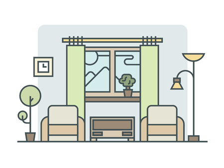 disposition: Living room linear style