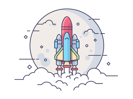 Space rocket Ilustrace