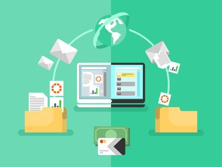 organization: 전자 문서 관리 일러스트