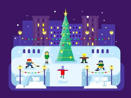 municipal: Municipal skating rink Christmas tree