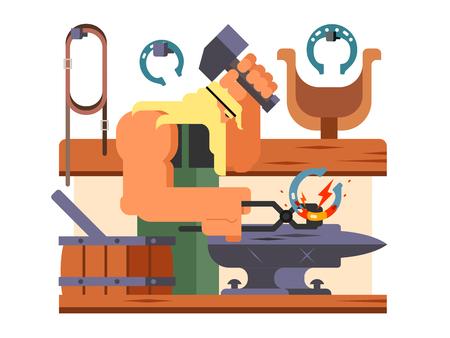Schmied Charakter Cartoon