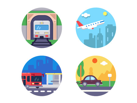 transport icons: Transport icons set