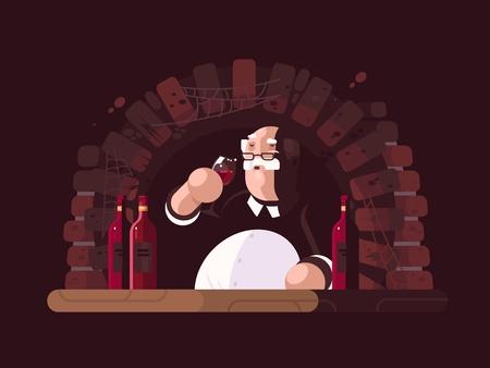 sommelier: Sommelier tasting wine