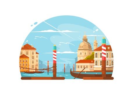 Ciudad de Venecia Ilustración de vector