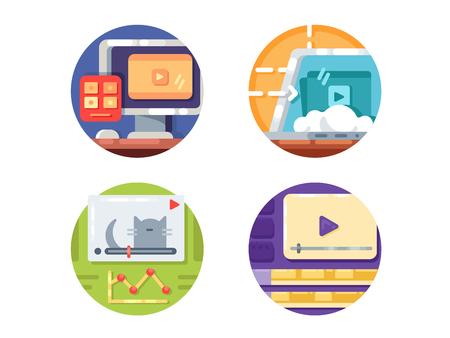 Video media icons