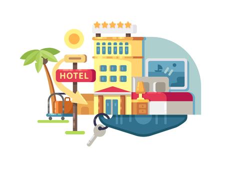 hospedaje: Hotel construyendo cinco estrellas Foto de archivo