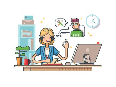 centre: Call customer support Illustration