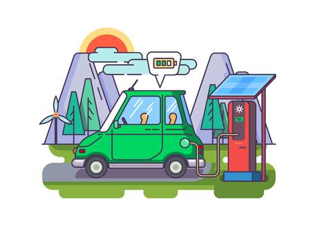 Ökologisches modernes Auto