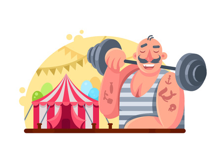 lifter: Funny circus weight lifter