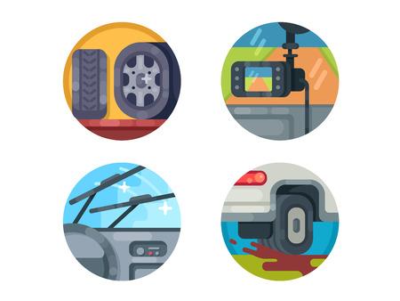 Set of auto icons