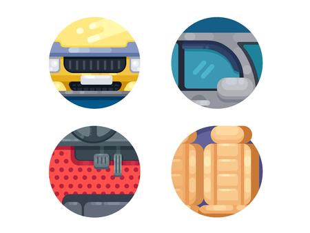Auto pictogrammen instellen Stock Illustratie