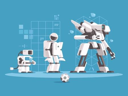 Evolutie van robotica Stock Illustratie