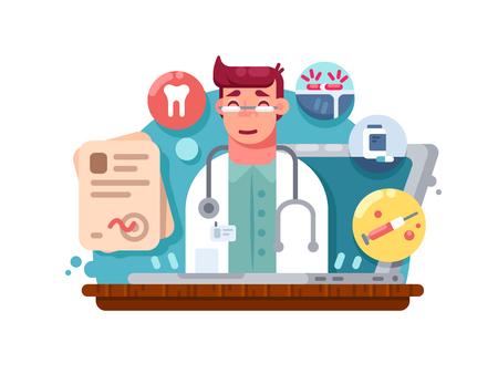 Service online dokter Stock Illustratie