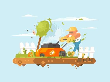 잔디 깍는 기계 일러스트