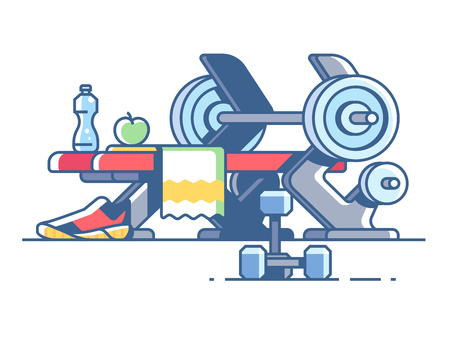 dumbell: Sports and fitness Illustration