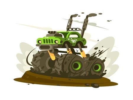 SUV monster truck Illustration