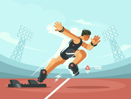 Athlete sprint start Stock Vector - 78766398
