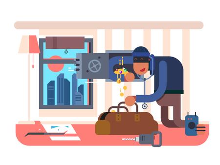 Burglar in the apartment