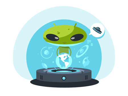 Alienand the planet earth Banco de Imagens - 81237151