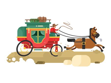 駅馬車デザインフラット