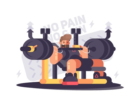 Powerlifting athlete in competitions