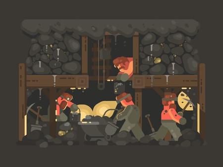 金の採掘のために鉱山