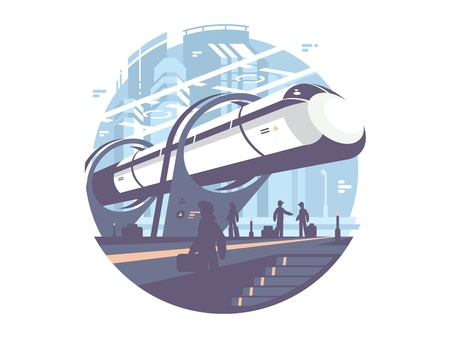 Hyperloop express transport train