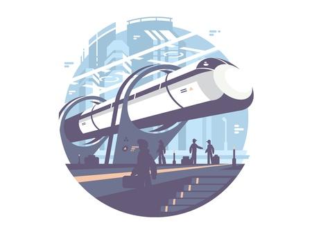 Hyperloop express transport train