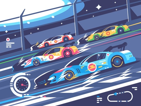 Sports car competitions Stock Illustratie
