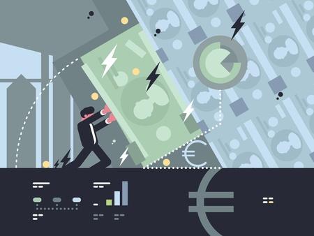 은행의 축소 및 하락