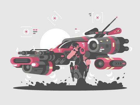 Machine volante du futur Banque d'images - 88605460