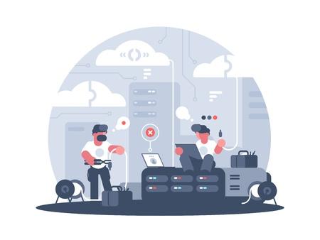 Ingenieurs van service-ondersteuning