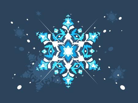 Abstract snowlflake flat design Illustration