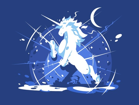 Einhorn mythischen Tier Standard-Bild - 91679828