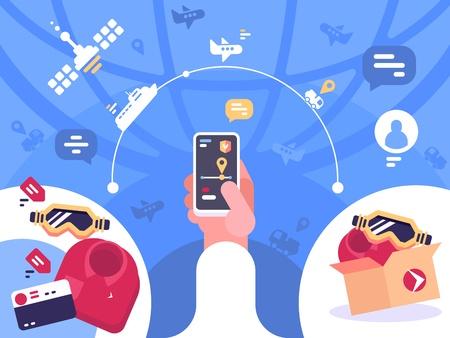 Tracking order parcel on smartphone