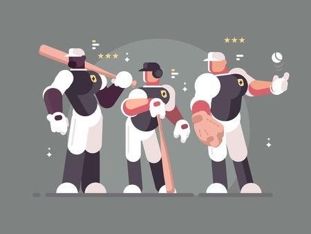 Baseball team of players