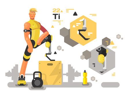 Prostheses for sport and fitness Stock Vector - 95642965