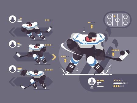 Hockey team players illustration Illustration