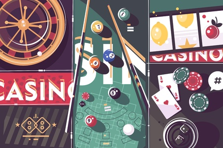 Gambling game casino abstract background