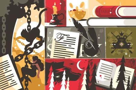 Fairy tale background abstract Illustration