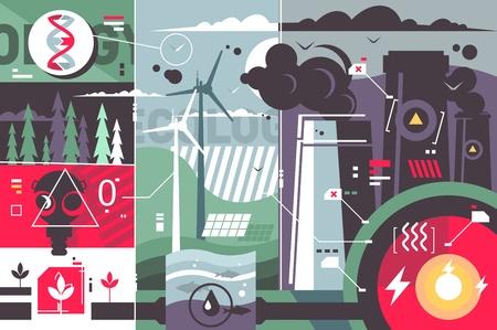 Ecology environment abstract background Illusztráció