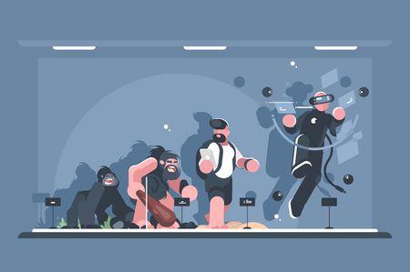 Technical evolution of man Illustration