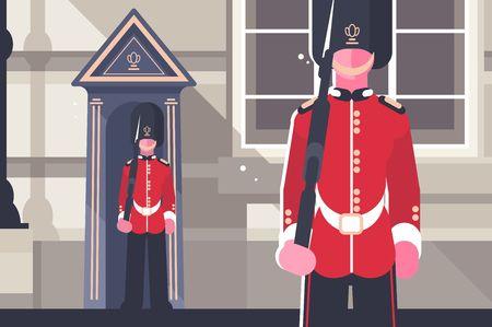 Personaggio soldato delle regine della guardia reale britannica