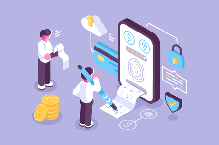 Bills online payment via mobile application